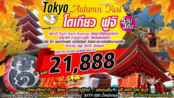 โตเกียว ฟูจิ  เที่ยวใบไม้แดง