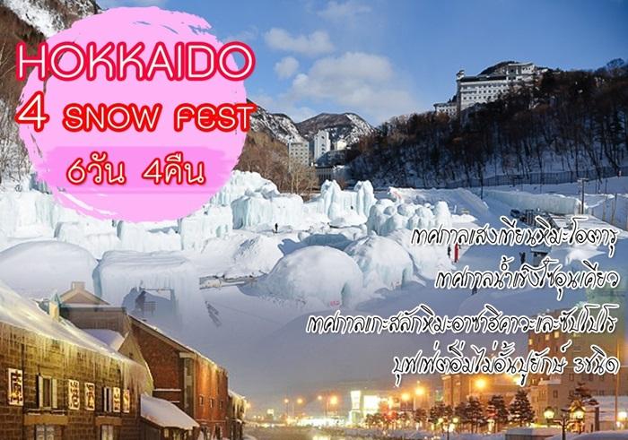 ฮอกไกโด เทศกาลแกะสลักหิมะอาซาฮิคาวะและซัปโปโร