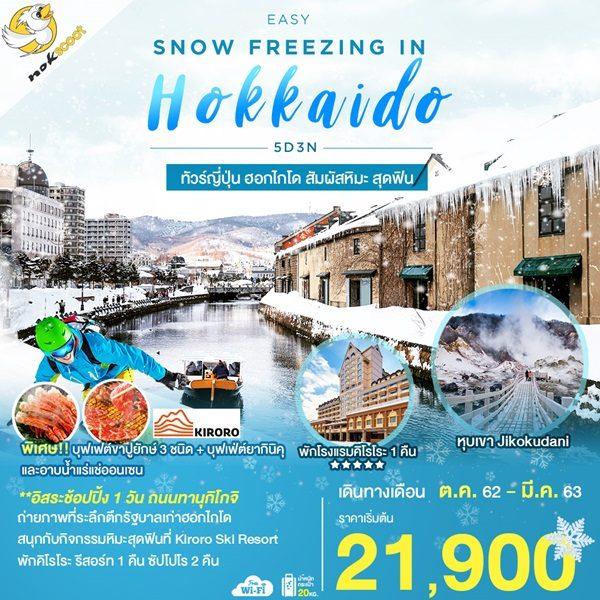 EASY SNOW FREEZING IN HOKKAIDO ฟรีเดย์ พักคิโรโระ
