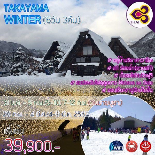 ทาคายาม่า-โอซาก้า-ฟูจิ-ลานสกี-โตเกียว-ชมไฟฤดูหนาว