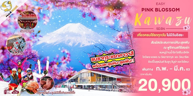 โตเกียว EASY PINK BLOSSOM KAWAZU
